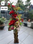 (5) Flower With Stand/ Bunga dengan Stand