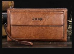 Jeep Genuine Leather Wallet Clutch For Men