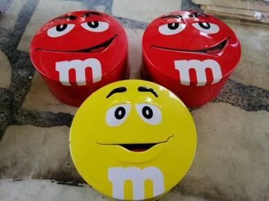 M&m; tin