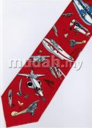 Classic Air Plane Vintage Airplane RED Neck Tie