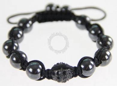 ABBBB-B001 Fashion Set Black Agate Stone Bracelet