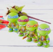 TMNT Ninja Turtles cute Ver. 7cm 4pcs toys set