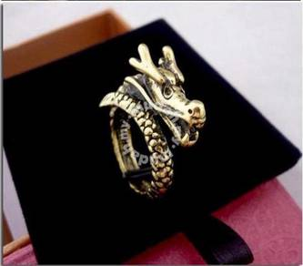 ABRB-D002 Bronze Ornament Dragon Finger Ring Sz 7