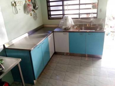 Kabinet Dapur Basah Simple Di Kota Bharu