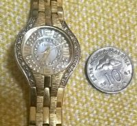 Elgin lady dress bling watch