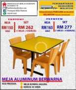 Meja dining rainbow code : yellow