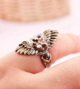 ABRB-M001 Fashion Bronze Mermaid Wings Ring Sz6.25