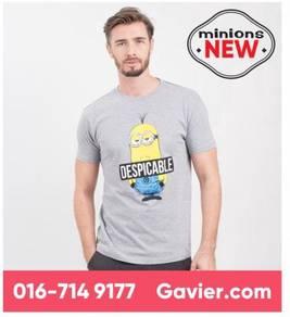 Baju Minions Grey Melange Shirt *Free Shipping