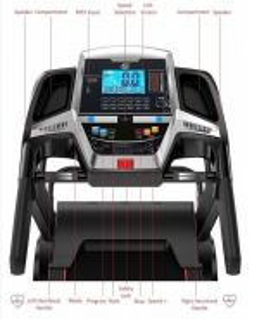 Heavy Duty Smart Apps 3HP Treadmill With Massager