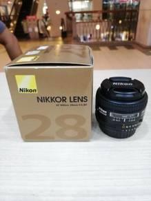Nikon af 28mm f2.8d lens (99.9% new)