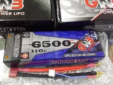 GNB 7.4V 2S 6500mAh 110c Hardcase Lipo Battery