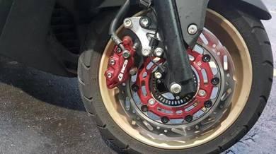 RCB front caliper dan disk brake merah