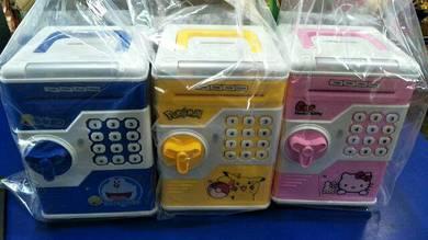 Money Coin Password Lock Saving ATM Box Tabung