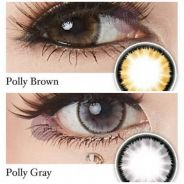 Polly Gray and Brown Contact Lens. 16mm. Power 0.0