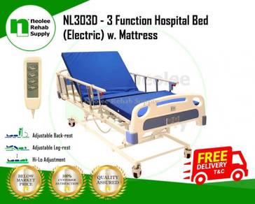 3 Crank Electric Hospital Bed + Mattress