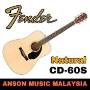 Fender CD-60S Dreadnought Acoustic Guitar, Natural
