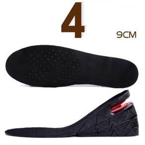 9CM Insole Increased Height Men Women Shoes Pad