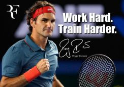 Poster Roger Federer Poster - Motivational quote -
