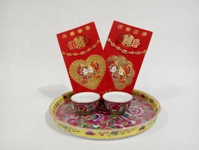 Wedding Tea Teaset Red Peranakan Nyonya Nonya