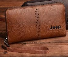 Jeep Genuine Leather Clutch Wallet For Men