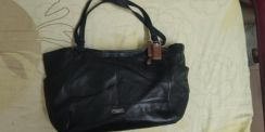 Coach park leather carrie tote (f29898)