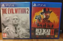 Ps4 game Red dead 2, evil within 2