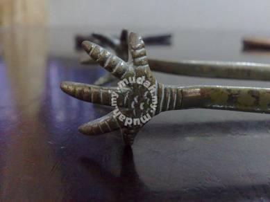 Brass antique tong penyepit ais tembaga