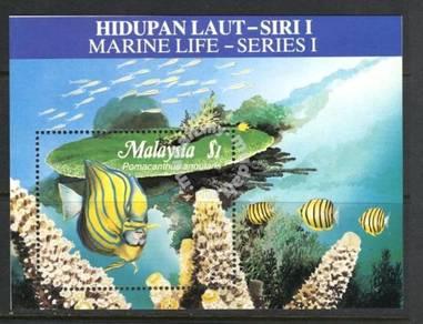 Miniature Sheet Marine Life (Toning) Malaysia 1988