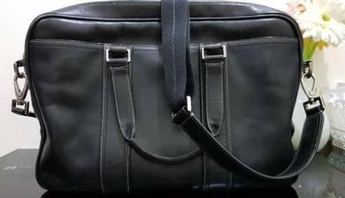 Original Leather Coach Briefcase / Messenger Beg