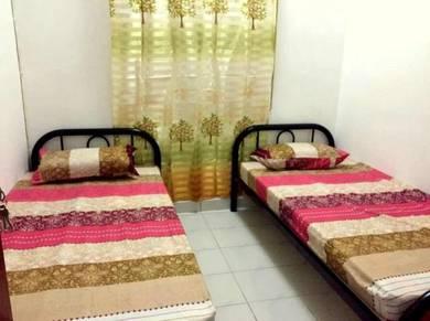 Apt Mawar - Bilik Fully Furnished Murah Percuma Unlimited Internet