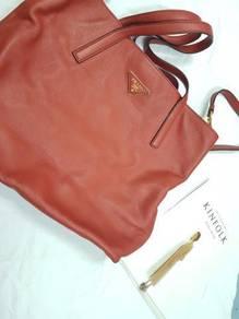 Prada Daino Leather Large Shopping Shoulder bag