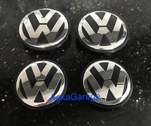 VW Volkswagen Rim Center Cap Emblem Polo 55mm