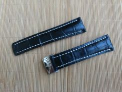 BREITLING 24 mm Crocodile Leather Watch Strap