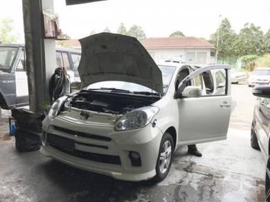 Perodua Myvi Car Air Cond Service Open Dashboard