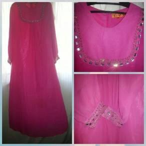 Jubah Pink Abaya Light Pink Striking