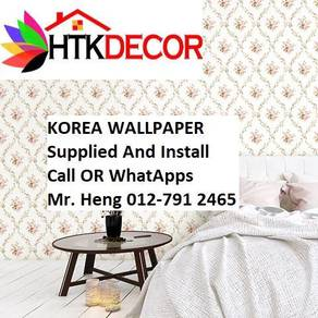 Pretty Wallcovering with Installation f5g4h88