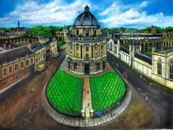 5 Ft x 4 Ft Of Canvas Oil Painting For Bodleian UK