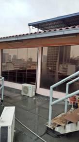 Kitchen yard tinted windows sliding rumah da