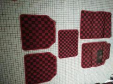 Honda civic EK EG carpet kecil dadu hitam merah