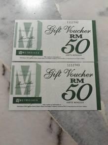 Metrojaya rm100 Cash Vouchers