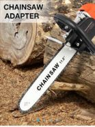Chainsaw adapter grinder