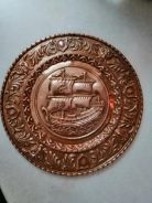 Vintage Copper Wall Plate Plaque