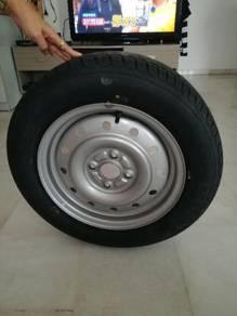 Axia original spare tyre with Rim