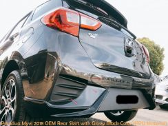 Perodua Myvi 2018 OEM Design Rear Skirt with Color