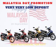 Super low deposit promotion malaysia day dash 125