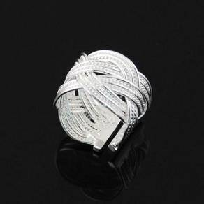 ABRWG-T001 Twisted Silver White Gold Filled Ring