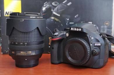 Nikon D5200 Nikkor 18-105mm shutter count 3800