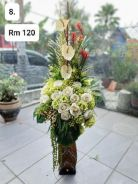 (8) Flower With Stand/ Bunga dengan Stand