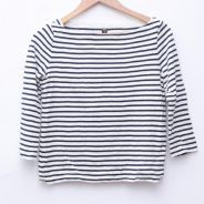 Size M UNIQLO Woman Stripes Long Sleeves Pit 18