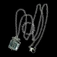 ABPSM-G002 Lovely Silver Crystal Box Necklace